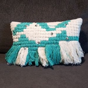 Brand new boho fringe pillow